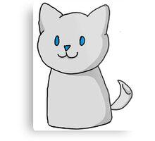 Marshmallow Kitty Metal Print
