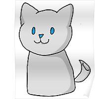 Marshmallow Kitty Poster