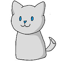 Marshmallow Kitty Photographic Print