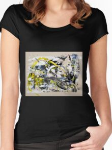 Yet Another Day in the Life, Original mixed media Abstract painting Women's Fitted Scoop T-Shirt