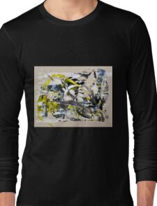 Yet Another Day in the Life, Original mixed media Abstract painting Long Sleeve T-Shirt