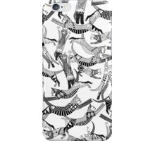 cat party black white iPhone Case/Skin