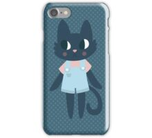 Cute Kitty In Dungarees iPhone Case/Skin