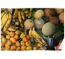 Exotic Fruits at the Market Poster