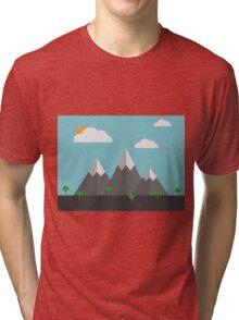 Cartoon landscape Tri-blend T-Shirt