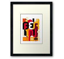 Berlin Typo Framed Print
