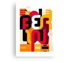 Berlin Typo Canvas Print