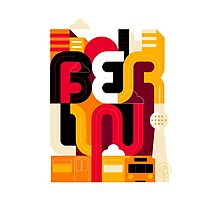 Berlin Typo Photographic Print