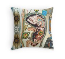 embryo - m. a. weisse Throw Pillow