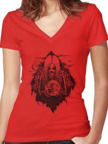 SOULTAKER Women's Fitted V-Neck T-Shirt