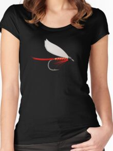Fishing Dry Fly Red Women's Fitted Scoop T-Shirt