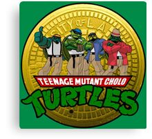 Teenage Mutant Cholo Turtles - Sewer version Canvas Print