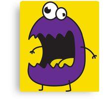 Little Purple Monster Canvas Print