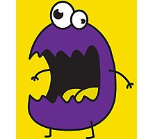 Little Purple Monster Photographic Print