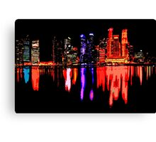 Colorful night Canvas Print