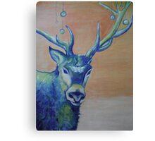Blue Reindeer/ORIGINAL PAINTING by Amit Grubstein Canvas Print