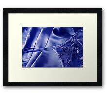 Silky Blue Framed Print