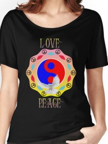 Love Peace Free Bird Women's Relaxed Fit T-Shirt