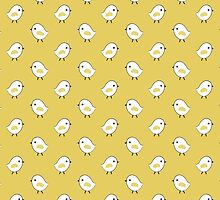 Busy Chicks - Mustard Yellow by daisy-beatrice
