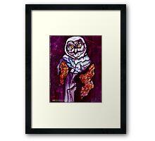 Owl Wizard/ Original work by Amit Grubstein Framed Print