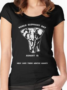 World Elephant Day -- August 12 Women's Fitted Scoop T-Shirt