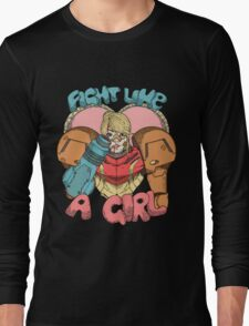 Fight Like A Girl - Samus Aran (Metroit) Long Sleeve T-Shirt