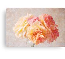 Textured Pastel Rose Canvas Print