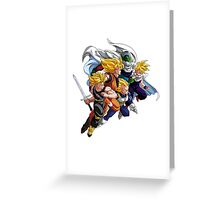 DBZ - SAYAN AND PICOLO Greeting Card
