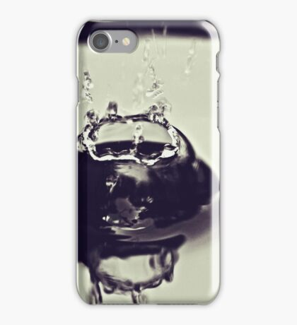 Splash - water like black glass (2010) iPhone Case/Skin