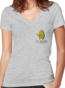 Lets Avocuddle! Women's Fitted V-Neck T-Shirt