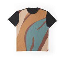 Tasha Sophia - Healing Zebra Earthy Print Turqoise and Shades of Brown 2 Graphic T-Shirt