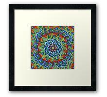 Tsunami Mandala (with background) Framed Print