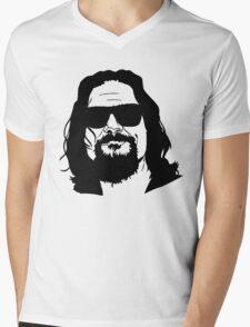 The Dude Abides The Big Lebowski Mens V-Neck T-Shirt