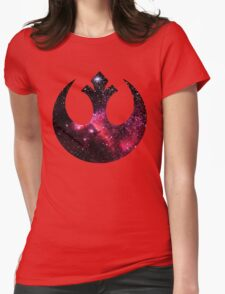Rebel Alliance space logo Womens Fitted T-Shirt