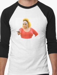 Divine - Pink Flamingos fan art Men's Baseball ¾ T-Shirt