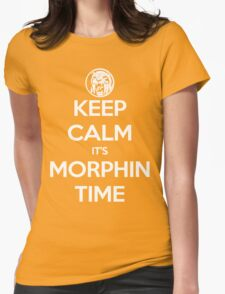 Keep Calm It's Morphin Time (Yellow) Womens Fitted T-Shirt