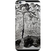 Vineyard in Black and White iPhone Case/Skin