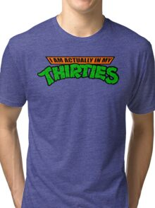 Teenage Mutant Ninja Thirties HARDCORE  Tri-blend T-Shirt