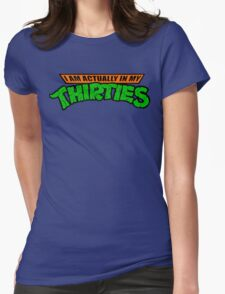 Teenage Mutant Ninja Thirties HARDCORE  Womens Fitted T-Shirt