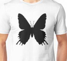 8-bit Simplex pixel Black butterfly Unisex T-Shirt