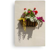 Wall Basket - Spring Flowers Canvas Print