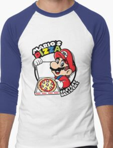 Mario's pizza Men's Baseball ¾ T-Shirt