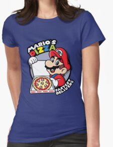Mario's pizza Womens Fitted T-Shirt