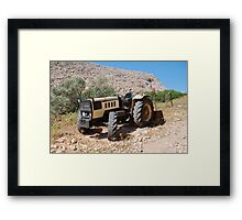 Lamborghini tractor, Halki Framed Print