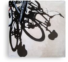 Two for One - Bicycle Cycling painting art Canvas Print
