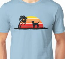 Labrador Retriever on Sunset Beach Unisex T-Shirt