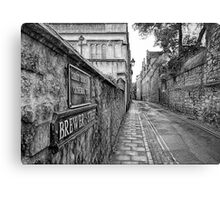 Brewer Street in Oxford Canvas Print