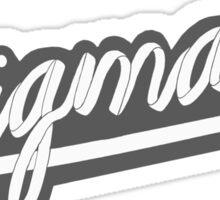 SIGMA K/SHOELACE Gray Sticker