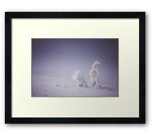 Snowy creatures Framed Print