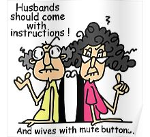 Funny Sarcasm Husbands and Wives Poster
